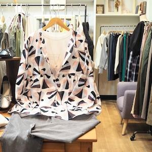 printed long blouse