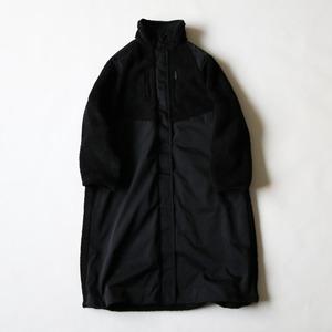 <WOMEN'S>BOA × NYLON RAGLAN COAT - BLACK