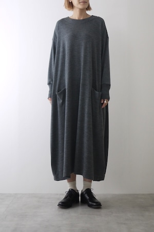 atelier naruse | wool cocoon knit one piece