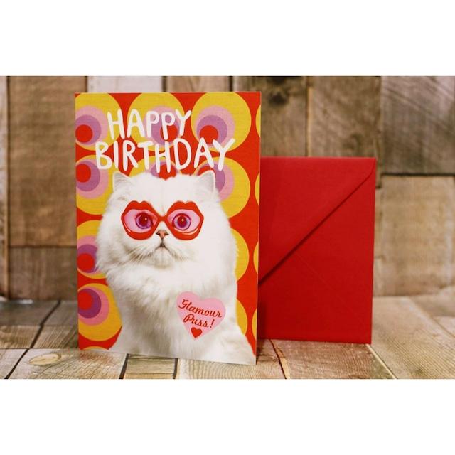happy birthday/グリーティングカード/ネコ03(お誕生日おめでとう)/浜松雑貨屋 C0pernicus