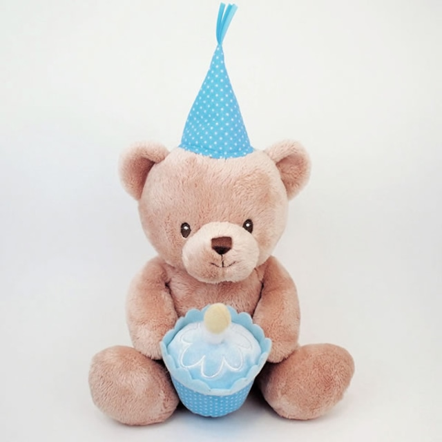 Happy Birthday トーキング べア ブルー