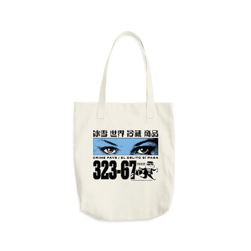 Cold World Frozen Goods|CRIME PAYS TOTE BAG