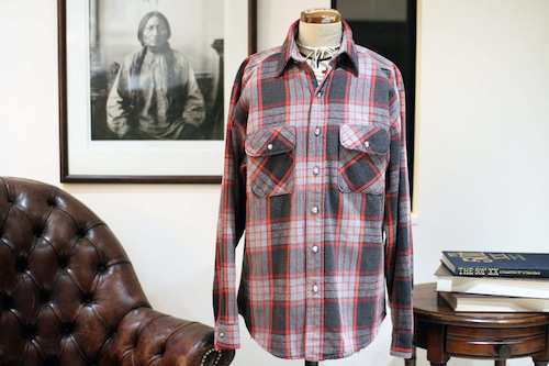 80s FIVEBROTHER HEAVY NEL SHIRT