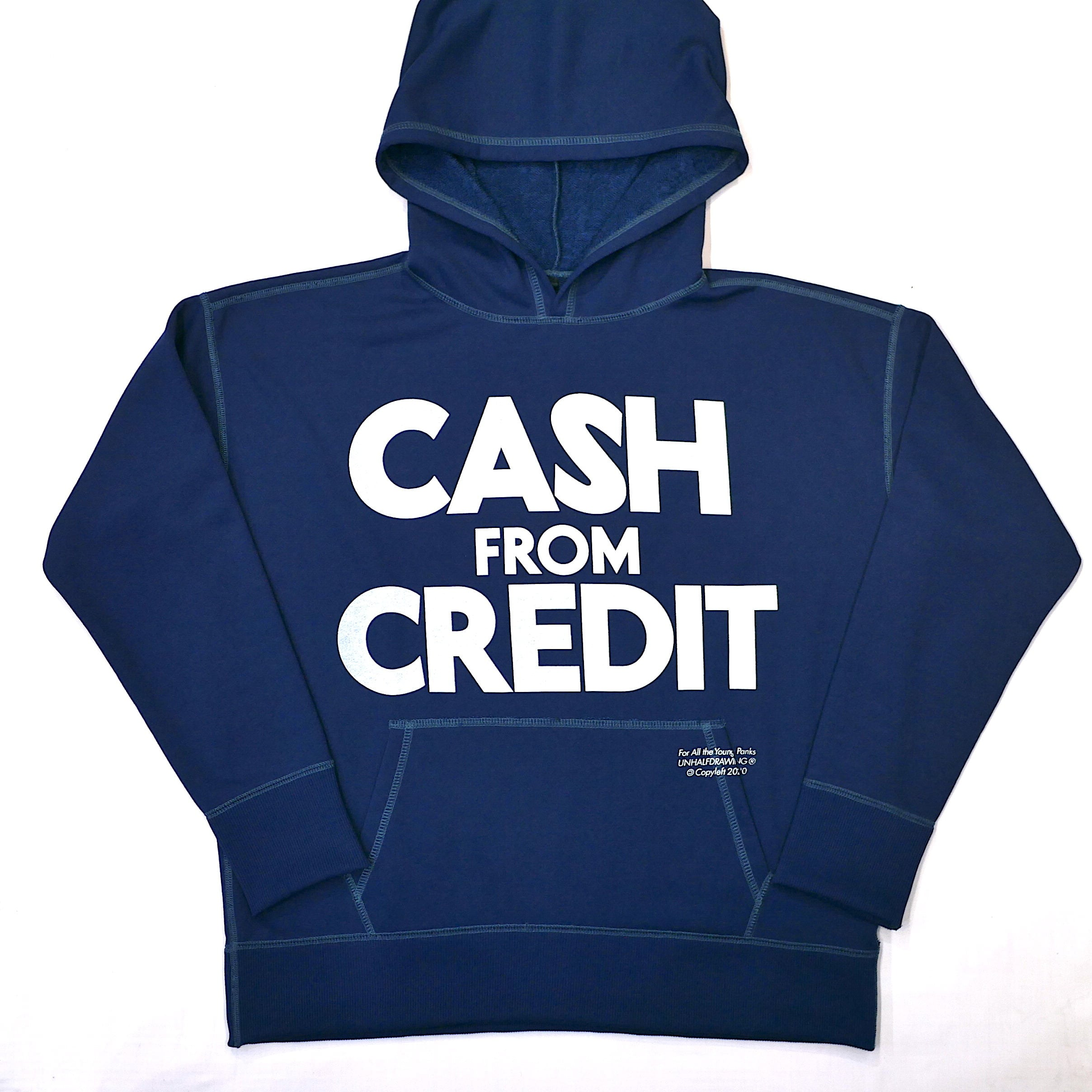 UNHALF DRAWING / LONG SLEEVE HOODIE(CASH FROM CREDIT)
