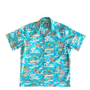 Mountain 半袖オープンアロハシャツ /  ALOHA DAYS  /  River Blue