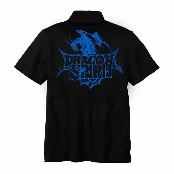 ドラゴンスピリット ポロシャツ「Single Head Polo-Shirt」-BLACK- / GAMES GLORIOUS