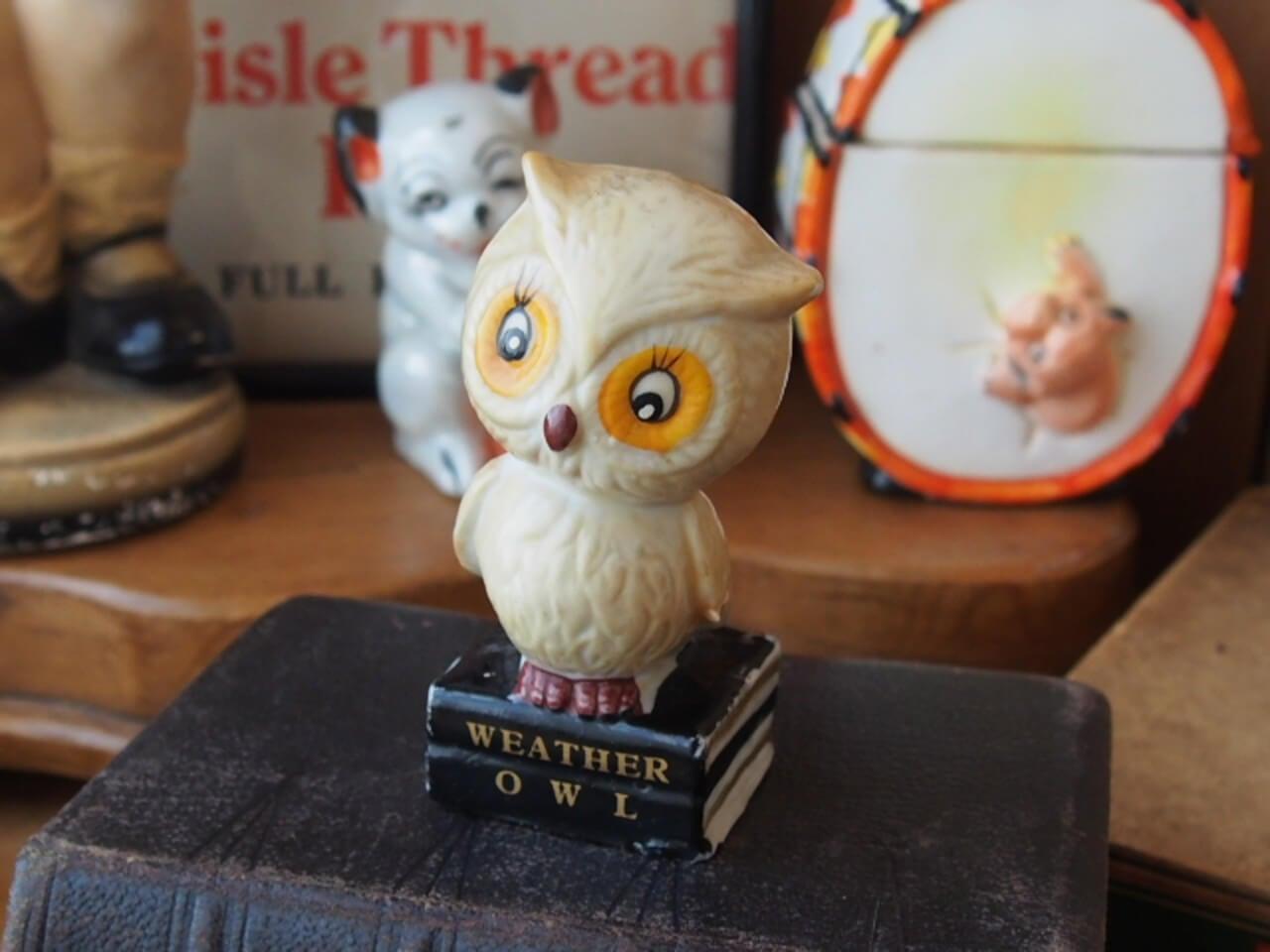 イギリスアンティーク WEATHER OWL