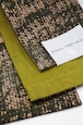 グラースオリジナル小袋帯/半巾帯 箔プリントデニム イエローB