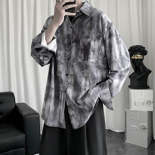 ダークタイダイルーズシャツ BL9155