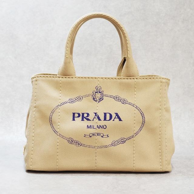 PRADA プラダ カナパ キャンバス 2WAYトートバッグ ベージュ
