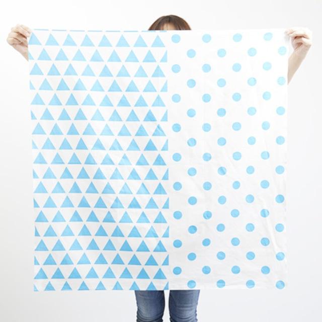 furoshiki/sky × scale & dots ハネルカ風呂敷 / 空 x 水玉鱗