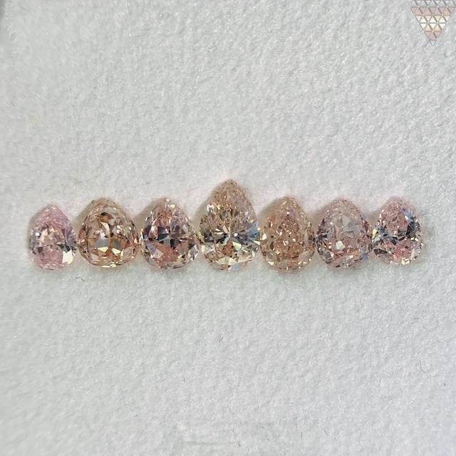 合計  0.93 ct 天然 カラー ダイヤモンド 7 ピース GIA  1 点 付 マルチスタイル / カラー FANCY DIAMOND 【DEF GIA MULTI】