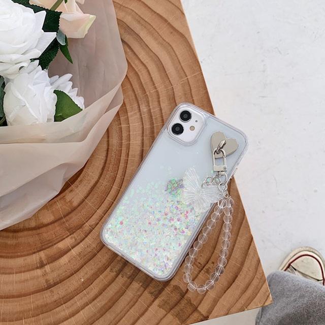 流れる♪ butterfly chain iphone case