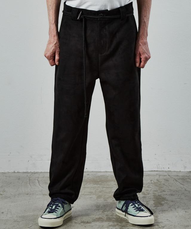 UNSELD boarding suède easy pants Black