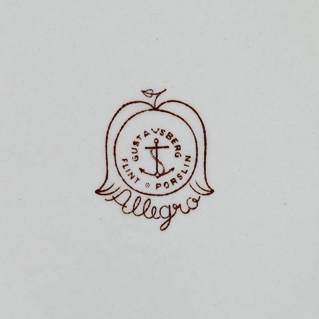 Gustavsberg  グスタフスベリ Allegro アレグロ 19cm皿 - 2 北欧ヴィンテージ
