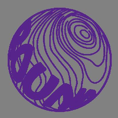 球体ロゴステッカー直径5cm【パープル】