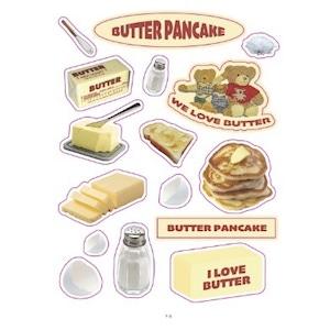 【韓国雑貨】butter pancake &bear loves breadシール