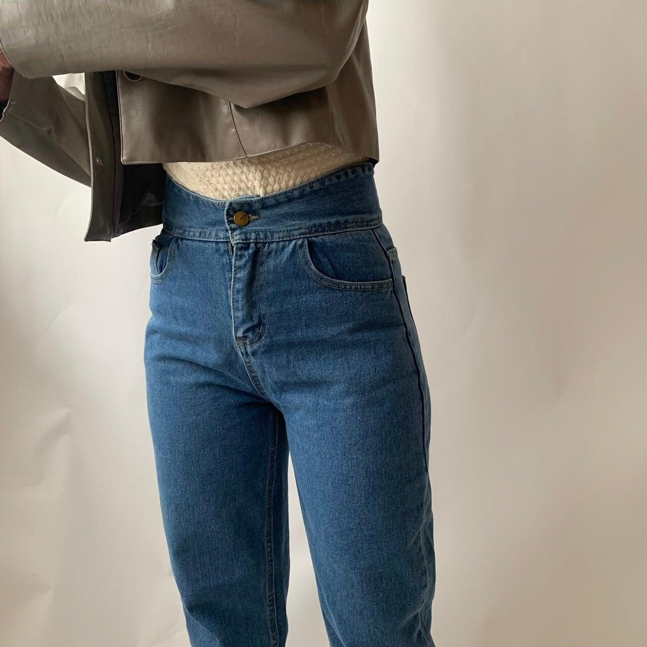 【asyu】high-waist denim