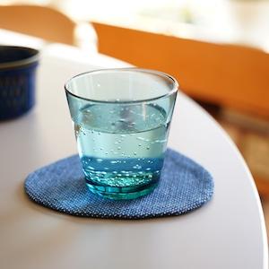 うしじま縫製   武州正藍染 三角コースター 一重刺子