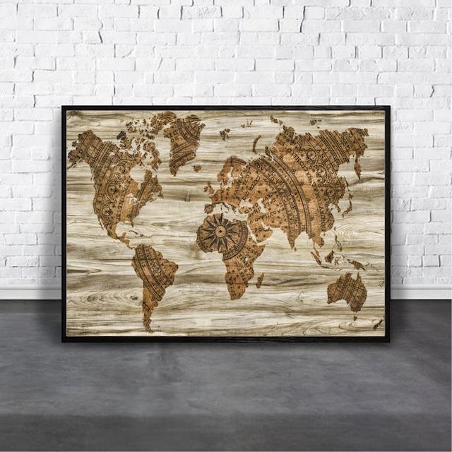 Map of the world / 【アートポスター専門店 Aroma of Paris】[AP-000254]