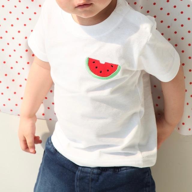 スイカ刺繍ベビーTシャツ 80・90サイズ