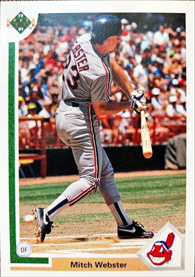 MLBカード 91UPPERDECK Mitch Webster #120 BRAVES