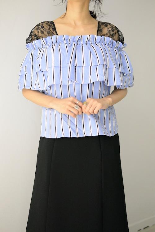 Clean2 / lace off shoulder top