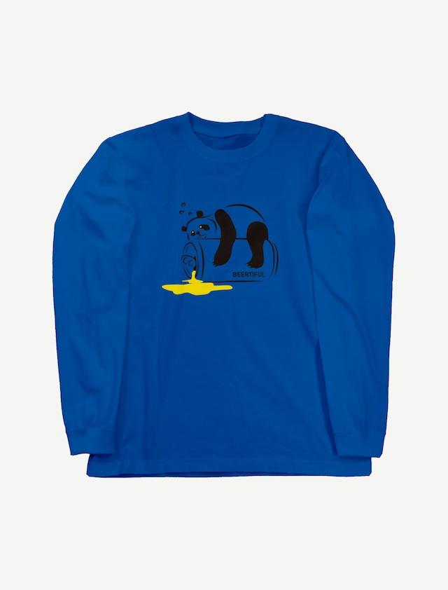【ほろ酔いパンダ】ロングスリーブTシャツ(ロイヤルブルー)