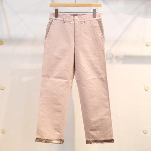 KUON(クオン) 綿和紙アセテート スラックス スモーキーピンク