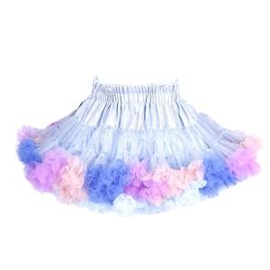 2951キッズ スカート チュチュスカート チュールスカート 女の子 TUTU 韓国子供服 ふわふわ 可愛い 子供用 発表会 ダンス ステージ衣装 ブルー