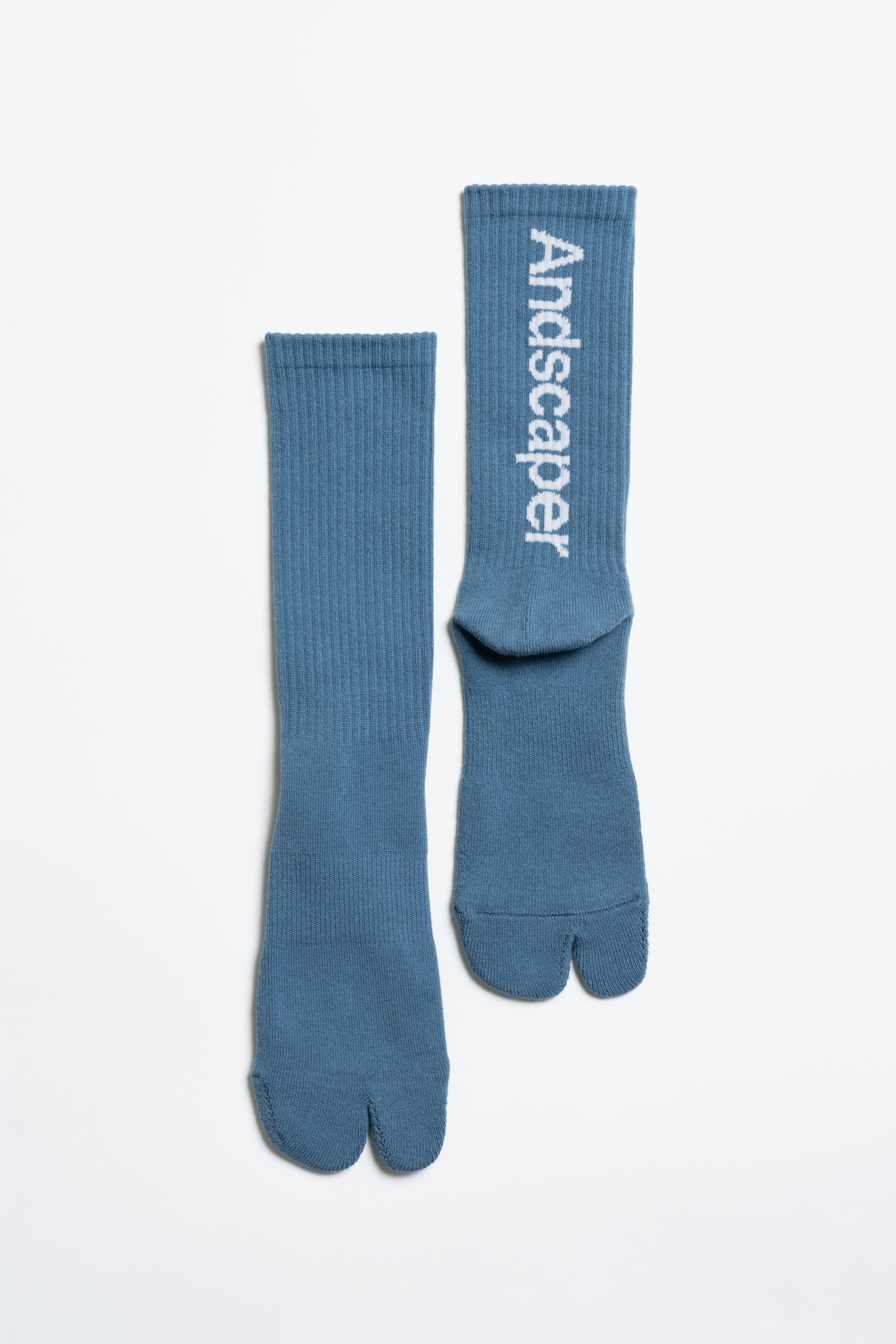 Concept Logo Socks(Foggy Blue × White)