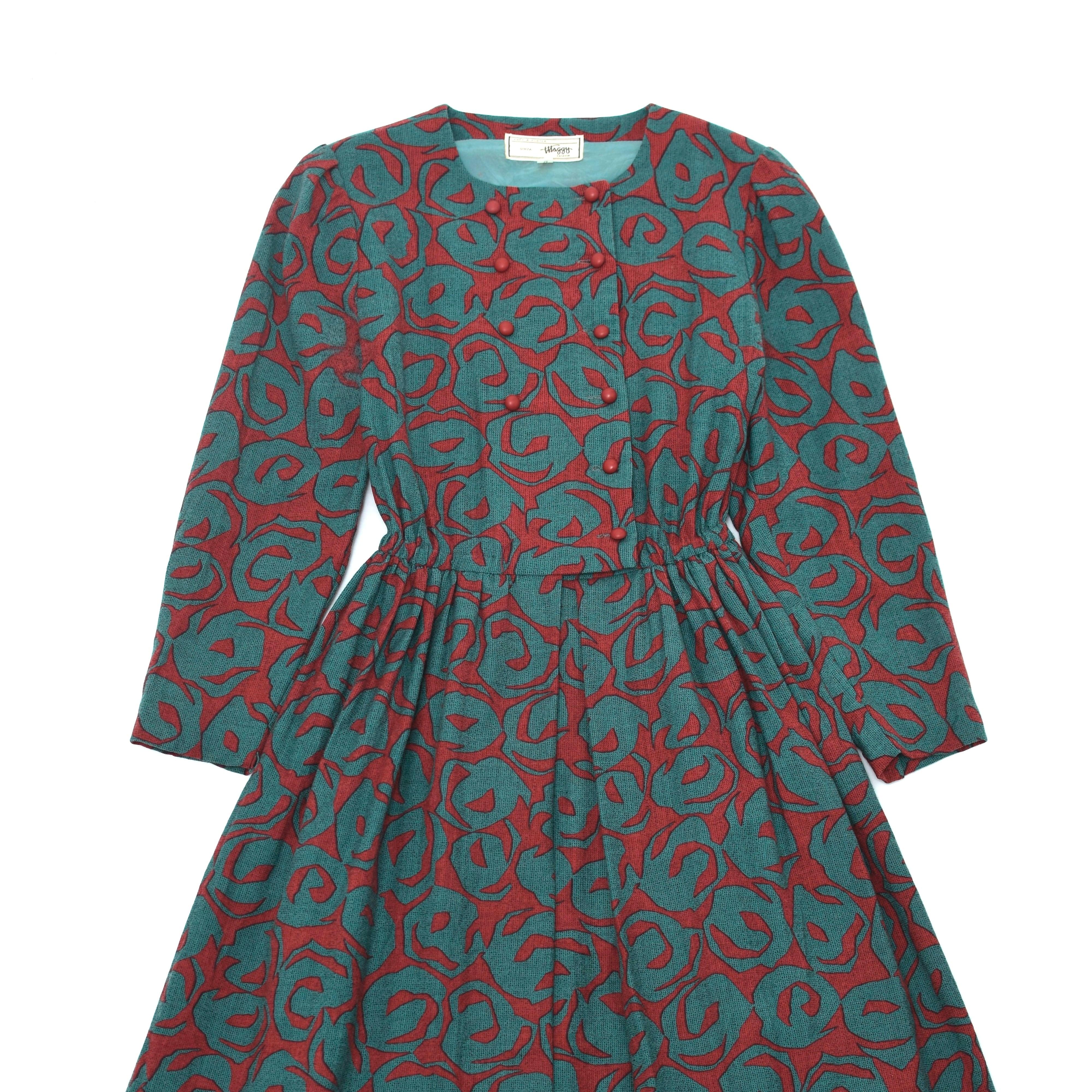 Japan vintage retro pattern one piece