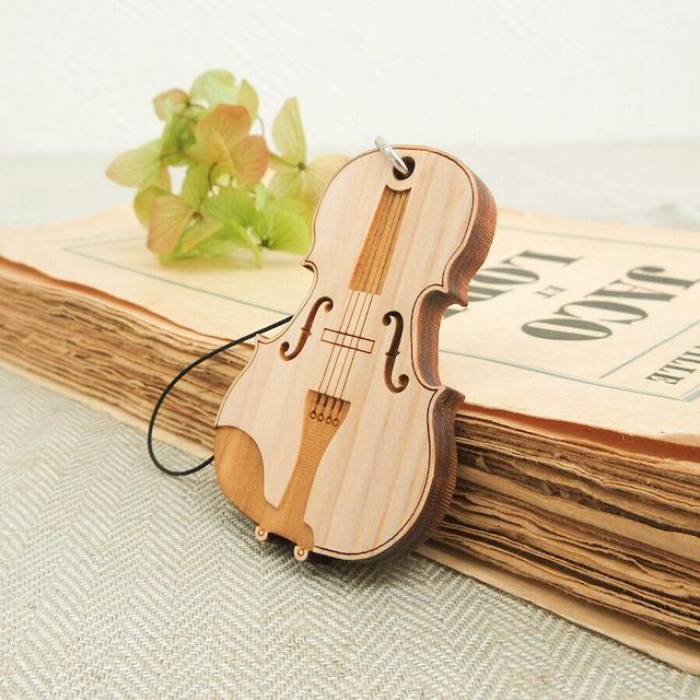 ひのきのストラップ バイオリン
