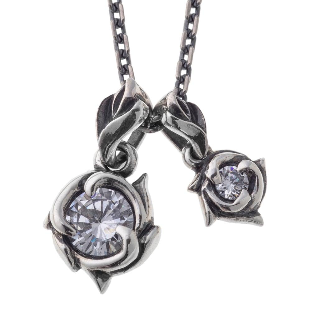 ツインフローラルペンダント ACP0327 Twin floral pendant