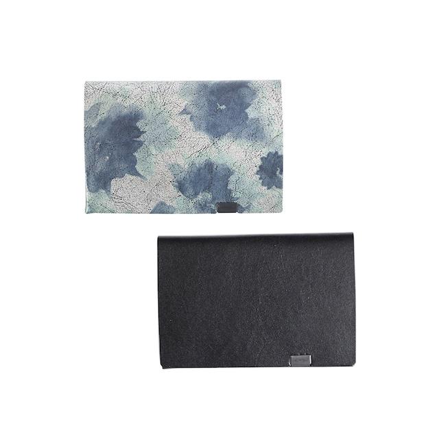 睡蓮画 フローラル(&ブラック) ショートウォレット1.0
