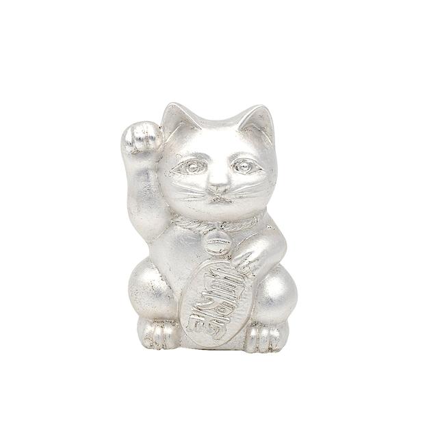《招き猫 》 Manekineko Silver leaf