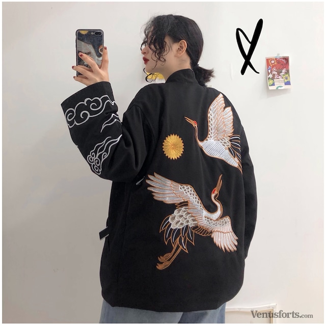 【アウター】ファッション動物柄刺繍カーディガン25974792