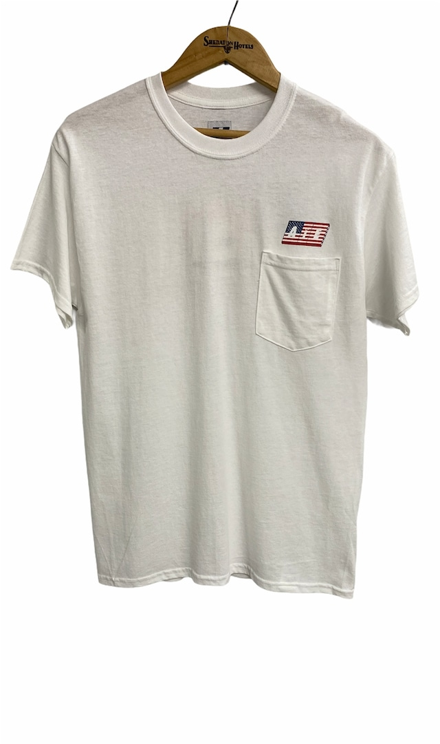 AiE  / Printed S/S Pocket Tee(WHITE)