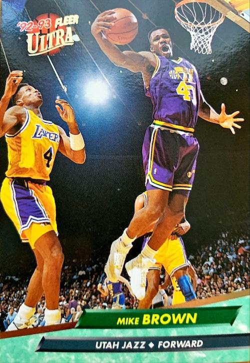 NBAカード 92-93FLEER Mike Brown #178 JAZZ