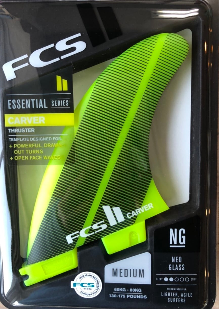 FCS2 フィン CARVER NEO GLASS YELLOW トライ