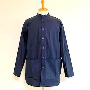 Gristone-W Cotton×Nylon Gabardine Gardening Coat Navy