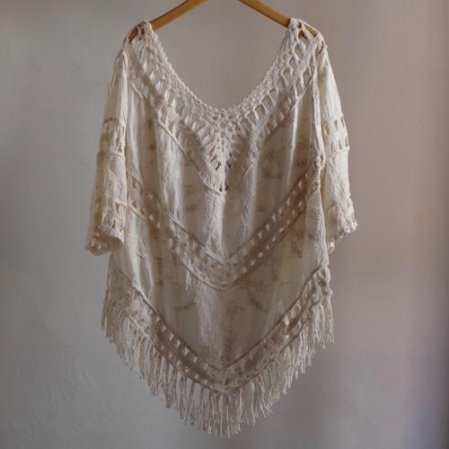 Bohemian Hem fringe Shirt / ボヘミア フリンジ シャツ