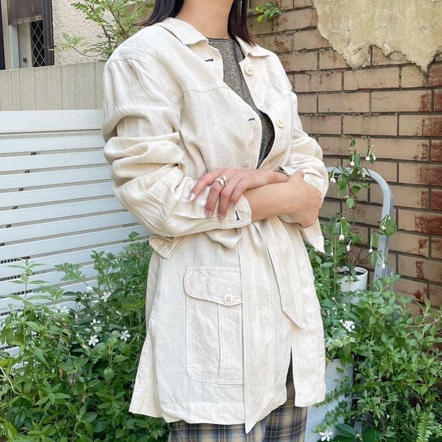 "USED "" linen jacket / リネンジャケット"""