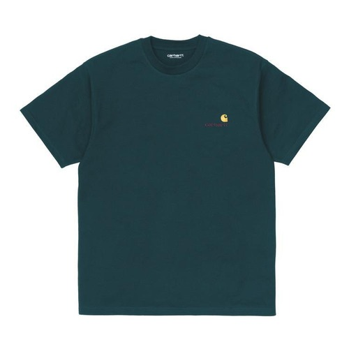 【Carhartt WIP】 S/S AMERICAN SCRIPT T-SHIRT - Deep Lagoon カーハート 半袖 Tシャツ