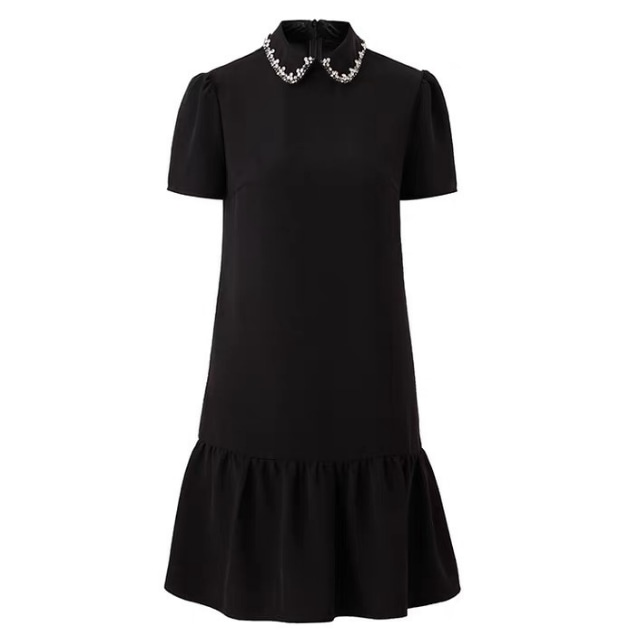 ラインストーン カラー ドレス【R1155】