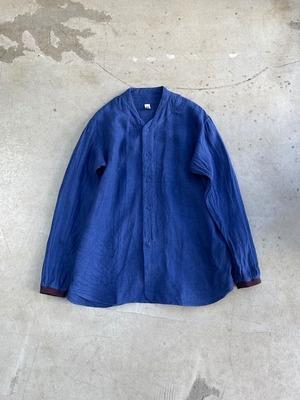 DA'S / New Baseball Shirt/ ink blue(ダズのニューベースボールシャツ(前開き) インクブルー)