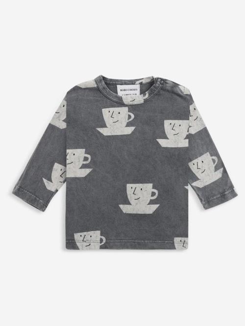 【Bobo Choses】Cup Of Tea All Over long sleeve T-shirt