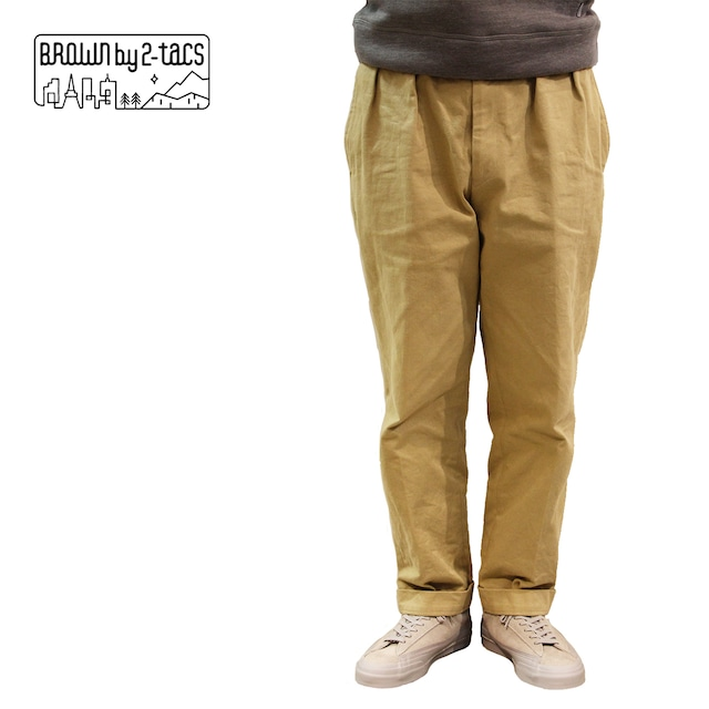 """BROWN by 2-tacs    B24-P003  """"TAPERED SLACKS"""""""