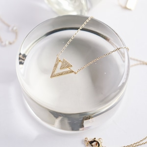 NECKLACE || 【通常商品】 DOUBLE TRIANGLE NECKLACE || 1 NECKLACE || GOLD || FBA075
