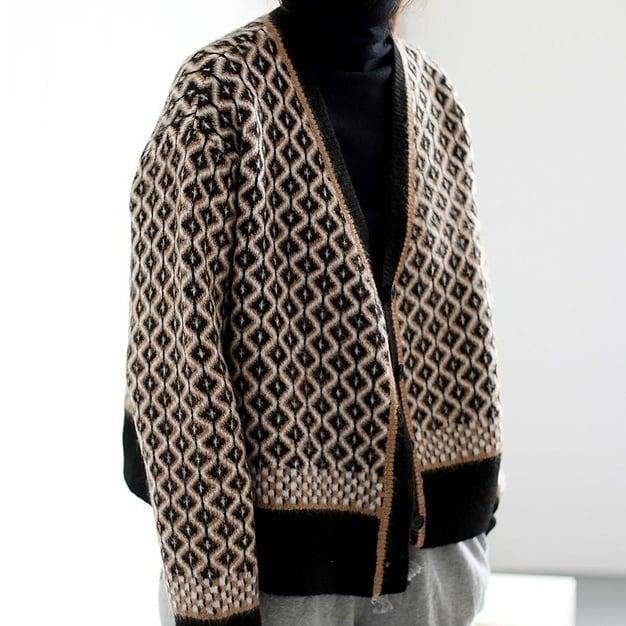 Pattern knit cardigan(パターンニットカーディガン)a-797